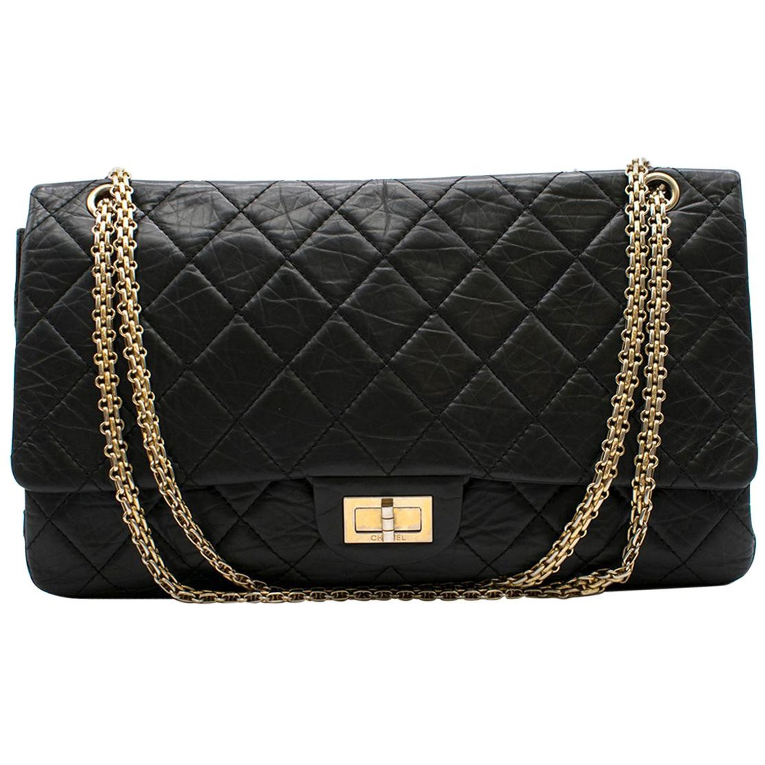 c5b7ef5f3da23c Chanel 2.55 Jumbo Reissue double-flap quilted leather bag at 1stdibs
