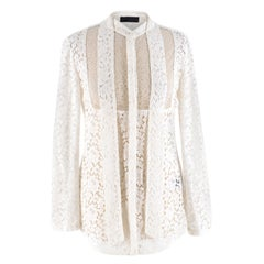 Burberry White Lace Shirt US 6