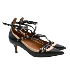 Valentino Rockstud Love Latch Kitten Heel Sandals US 8