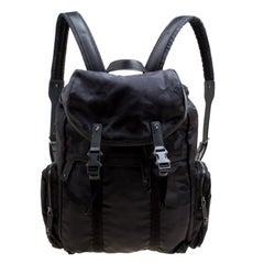 Valentino Black Camouflage Nylon Backpack