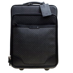 Montblanc Black Signature Coated Canvas Nightflight On board Luggage