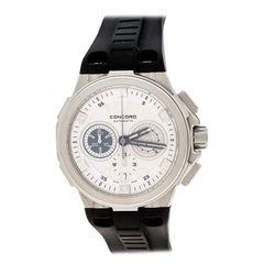 Concord Silver White Stainless Steel C2 Chronograph Men's Wristwatch 43 mm