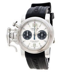 Graham White Stainless Steel Chronofighter 2CFAS Men's Wristwatch 43 mm