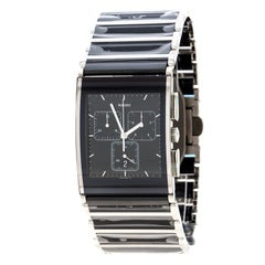 Rado Black Stainless Steel Ceramic Integral Chronograph Men's Wristwatch 31 mm