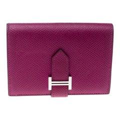 Hermes Tosca Epsom Leather Bearn Card Holder