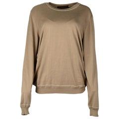 Louis Vuitton Brown Cotton/Silk Highlighted Rib Crewneck Sweater NWT Sz XL
