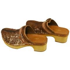 Prada Goat Fur Shoes