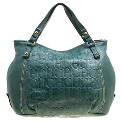 Carolina Herrera Green Leather Hobo