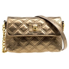 Marc Jacobs Bronze Quilted Leather Day To Night Single Crossbody Bag
