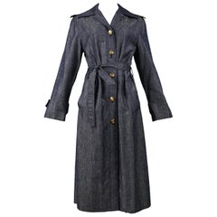 Vintage Celine Denim Trench Coat