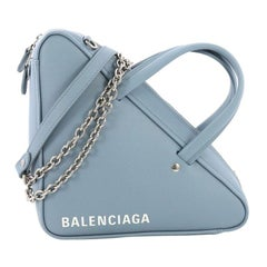 Balenciaga Triangle Chain Crossbody Bag Leather XS