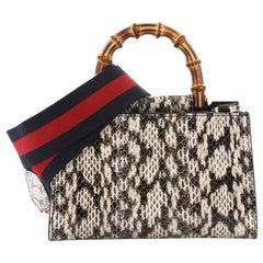 Gucci Nymphaea Top Handle Bag Python Mini