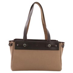 Hermes Herbag Cabas Toile and Leather PM