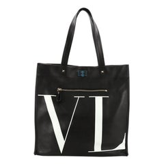 Valentino VLTN Shopping Tote Printed Leather Medium