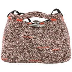 Balenciaga Toggle Lock Convertible Tote Tweed