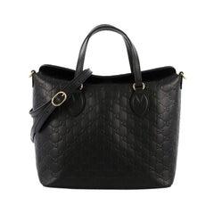 Gucci Signature Fold Over Tote Guccissima Leather Medium