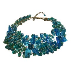 Blue Glass NecklaceH