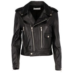 2010s Christian Dior Black Leather Biker Jacket