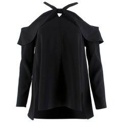 Proenza Schouler Cold-Shoulders Long Sleeved Black Top US 0-2
