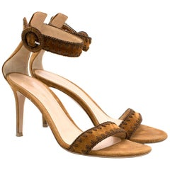 71015dfe6d3 Gianvito Rossi Nude Leather Buckled Thong Sandal Heels For Sale at ...