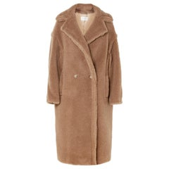 Max Mara Teddy Bear Camel Hair and Silk Blend Coat