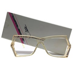 New Vintage Cazal 183 Translucent Gold Frame Reading 1970's Sunglasses