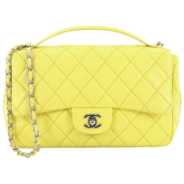 771e23e3e854 Chanel Easy Carry Flap Bag Quilted Lambskin Medium at 1stdibs