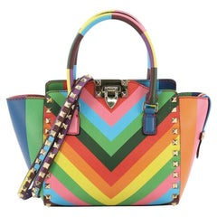 Valentino 1973 Rockstud Tote Rigid Leather Mini