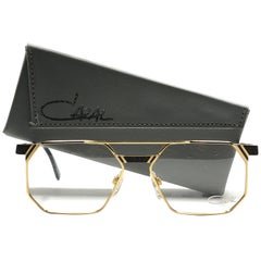 New Vintage Cazal 743 Gold & Black Reading Frame 1970's Sunglasses