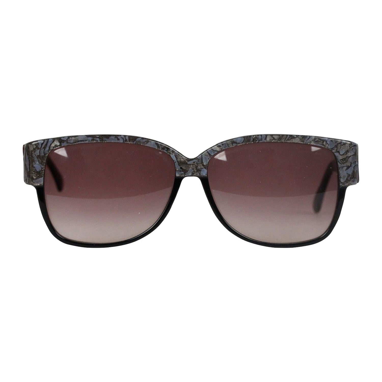 Emilio Pucci Vintage Black Sunglasses 88020 EP75 60mm New Old Stock