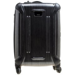 Tumi Grey Graphic Print Polycarbonate Carry On Luggage 50