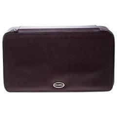 Dolce & Gabbana Burgundy Leather Jewelry and Sunglasses Organizer Box