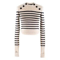 Isabel Marant Hatfield Striped Merino Wool Knit Sweater US 0-2