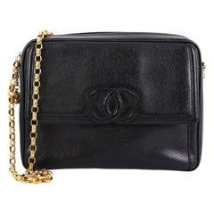 Chanel Vintage Front Pocket CC Camera Bag Caviar Medium