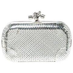 Bottega Veneta Sterling Silver Knot Clutch