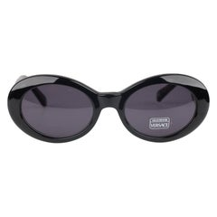 Gianni Versace Vintage Black Butterfly Sunglasses 403G New Old Stock