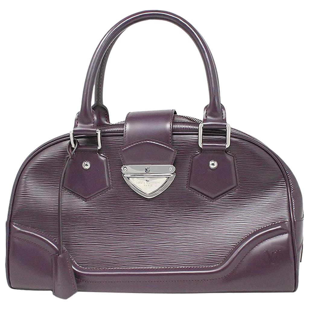 Louis Vuitton Bowling Montaigne GM Purple Epi Leather Handbag