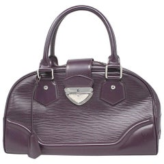 Louis Vuitton Bowling Montaigne GM Purple Epi Leather Handbag