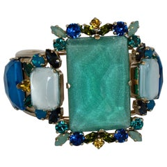 Philippe Ferrandis Aqua, Blue, and Yellow Adjustable Cuff