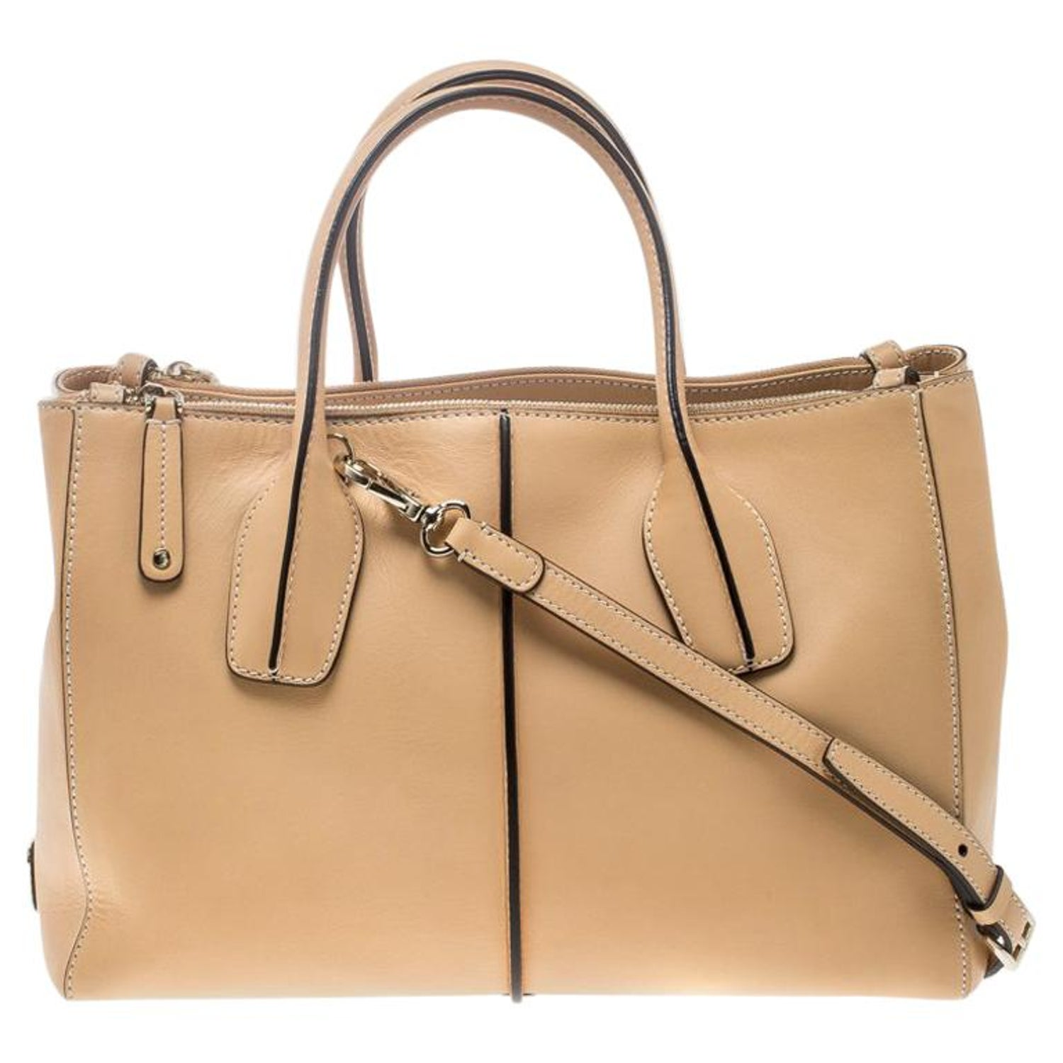 163d9037d19b Tod's Beige Leather D-Styling Shopper Top Handle Bag For Sale at 1stdibs