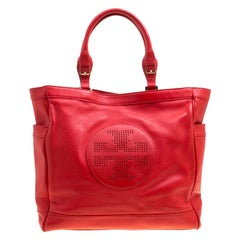 Tory Burch Red Leather Tote