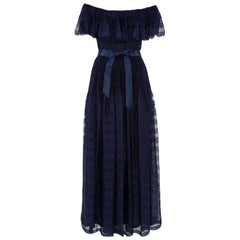 Silk Chiffon Smock Evening Dress
