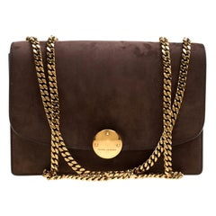 Marc Jacobs Brown Suede Trouble Shoulder Bag
