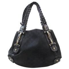 Gucci Pelham Monogram Signature Hobo 868907 Black Canvas Shoulder Bag