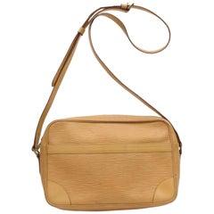 Louis Vuitton Trocadero 868805 Beige Leather Cross Body Bag