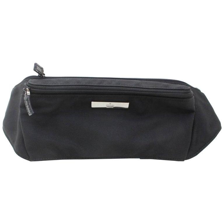 dc3b82017e5 Gucci Black Nylon Logo Fanny Pack Waist Pouch Bag 868712 Belt For Sale