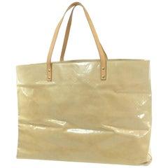 c87eb696c0b4 Louis Vuitton Reade Extra Large Monogram Vernis Gm 868717 Yellow Patent  Leather
