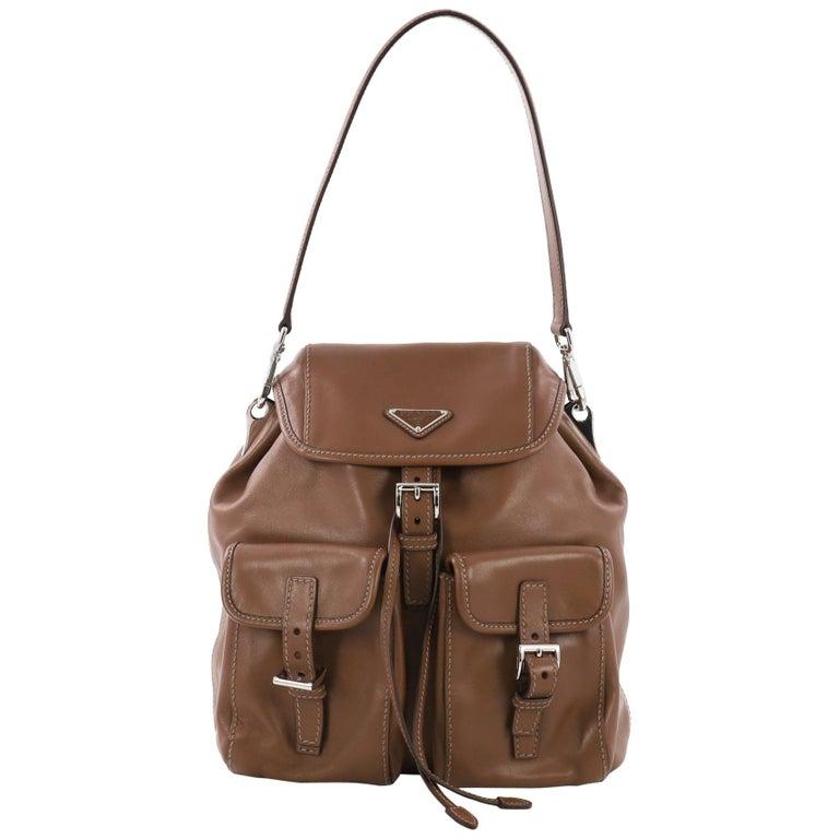 73f1dc51e379 Prada Double Pocket Shoulder Bag Soft Calfskin Medium For Sale at ...