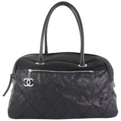 Chanel Biarritz Duffle Bag Quilted Canvas Large