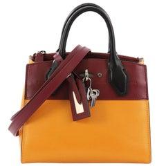Louis Vuitton City Steamer Handbag Leather Mini